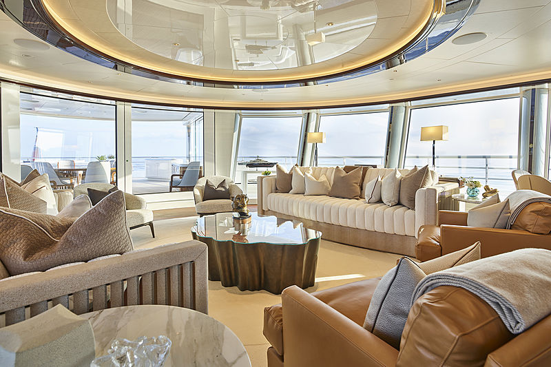 Excellence yacht upper lounge