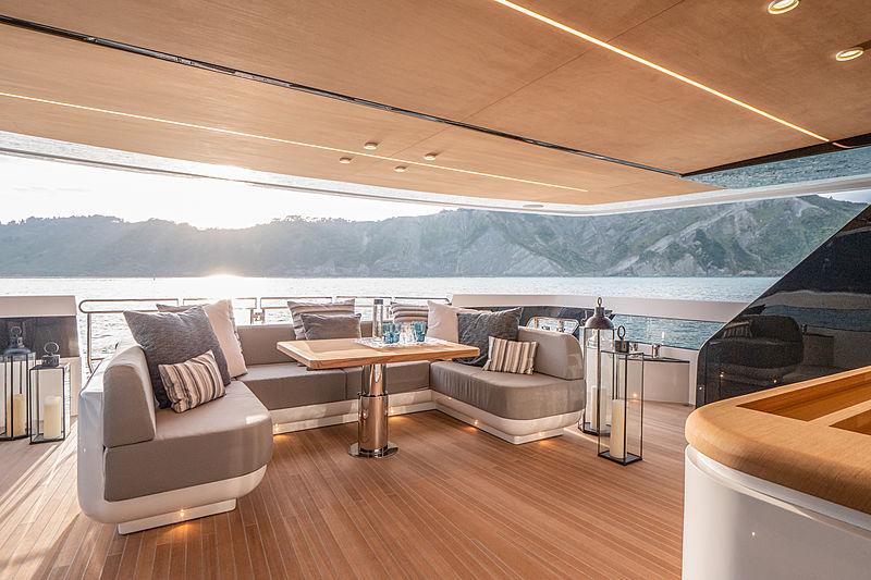Ohana yacht aft deck