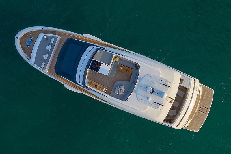 Ohana yacht anchored aerial