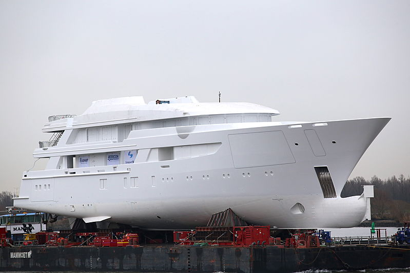 Hull and superstructure of Feadship project 707