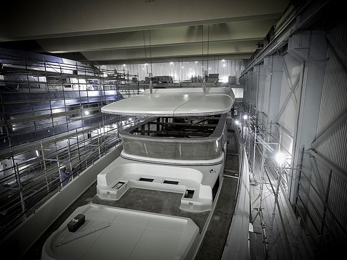 Majesty 120/01 yacht in build in Umm Al Quwain