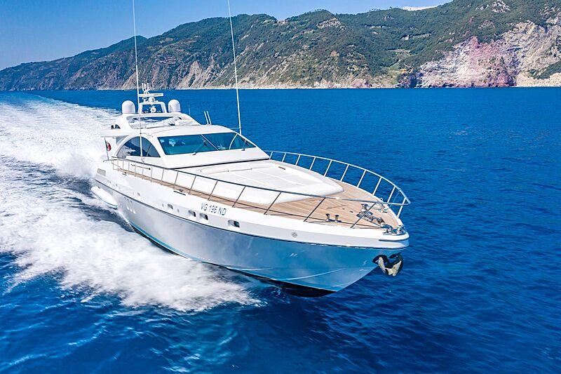 Toy yacht cruising