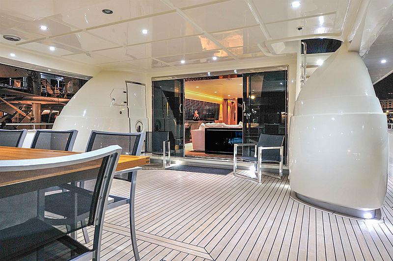 Bertona yacht main aft deck