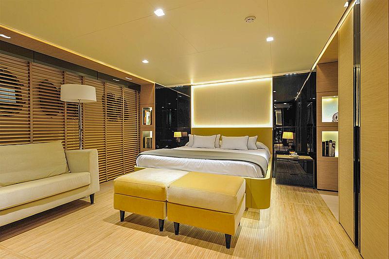 Bertona yacht owner's cabin