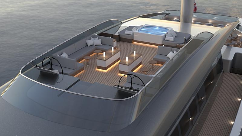 NewDawn 70 yacht exterior design