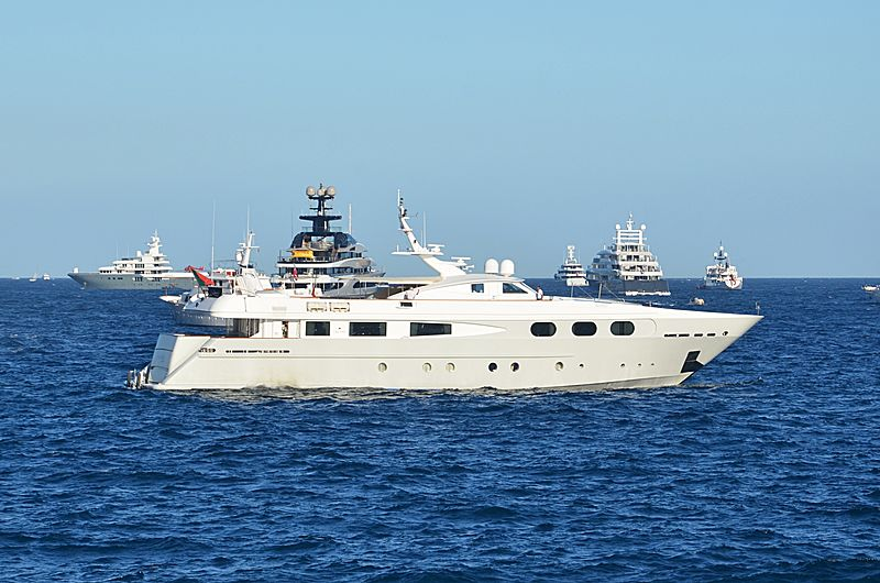 Sophie Blue yacht anchored off Monaco
