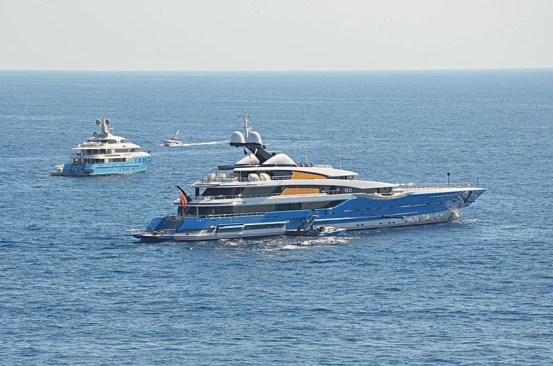 Madame Gu yacht anchored off Monaco
