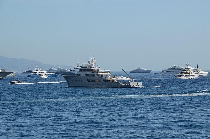 Aspire yacht anchored off Monaco