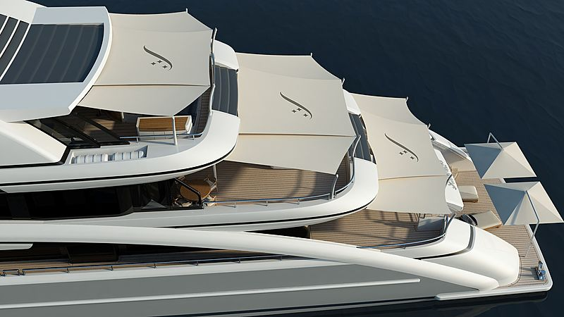 Soaring yacht exterior