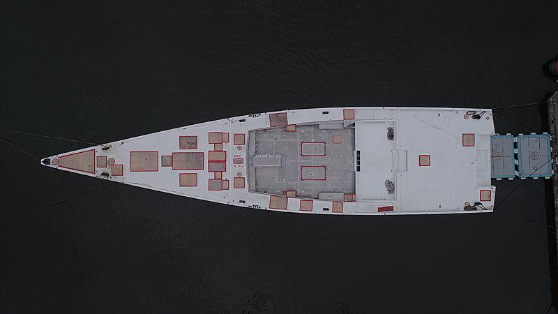 E-volution 42/02 yacht hull by Perini Navi at Viareggio