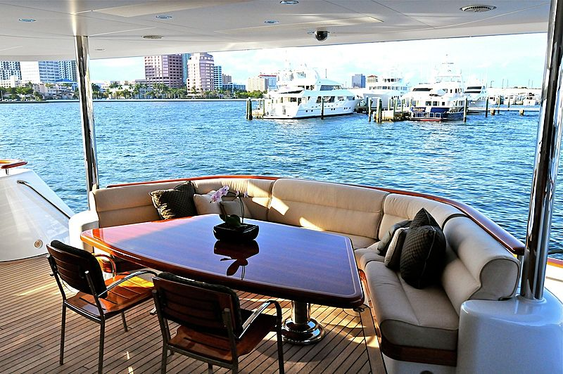 Excellence yacht aft deck