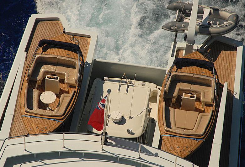 Garfield yacht tender storage