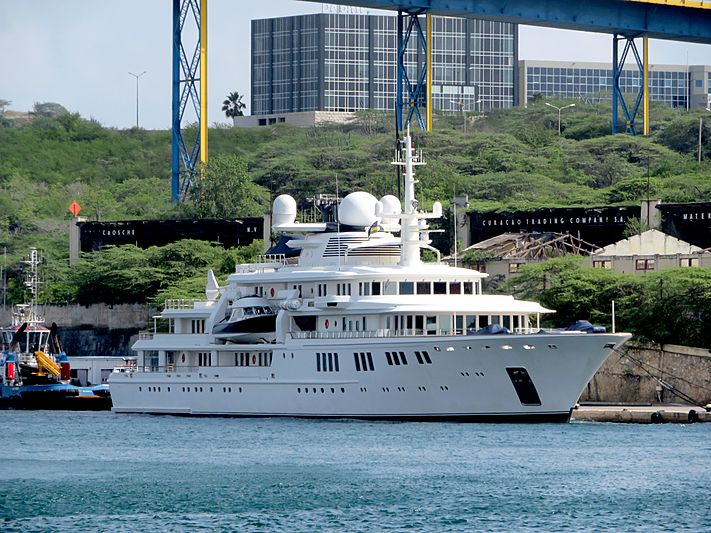 Tatoosh yacht at Willemstad Curacao