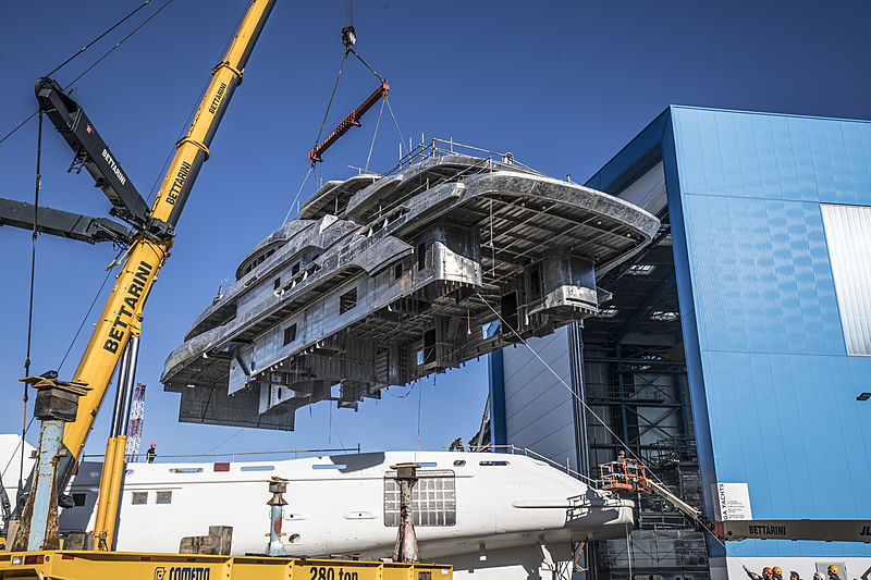 Benetti FB274 hull and superstructure completed