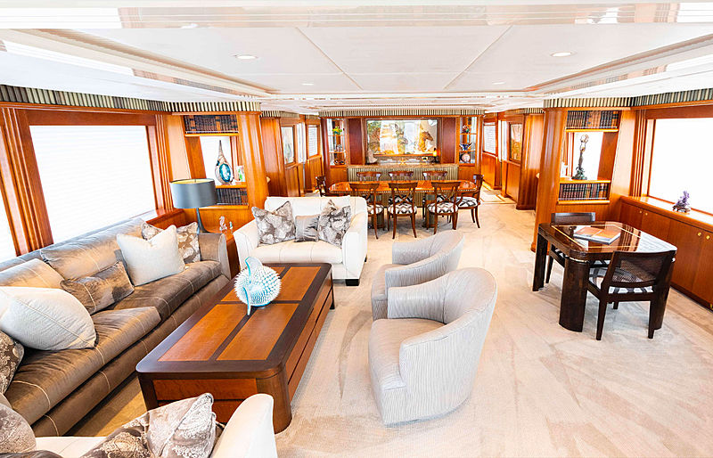 Sea Filly yacht saloon