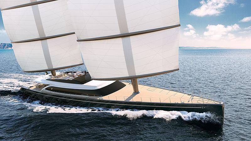 Perini Navi 64m Falcon Rig yacht concept exterior design
