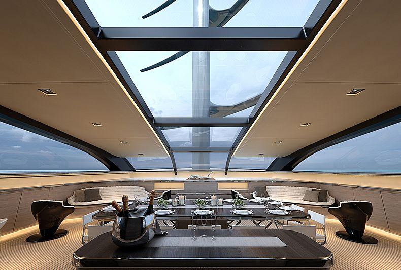 Perini Navi 92m Falcon Rig yacht concept interior design