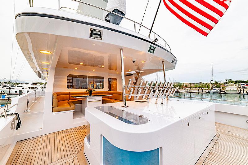 Steadfast yacht aft deck