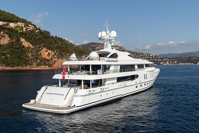 Aurora Borealis yacht stern