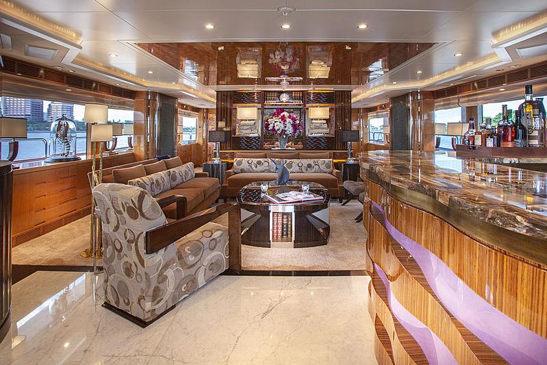 MAG III yacht saloon