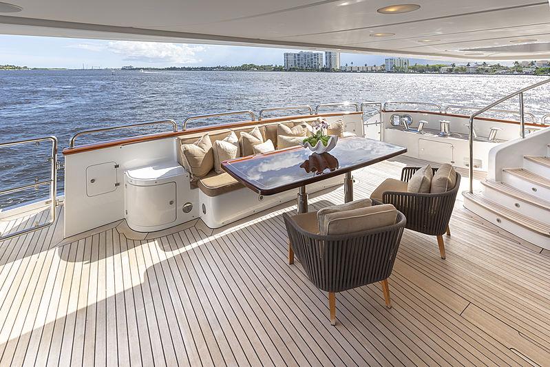 MAG III yacht main deck aft dining