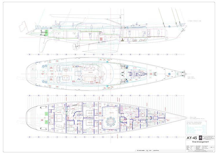 Encore yacht GA plan