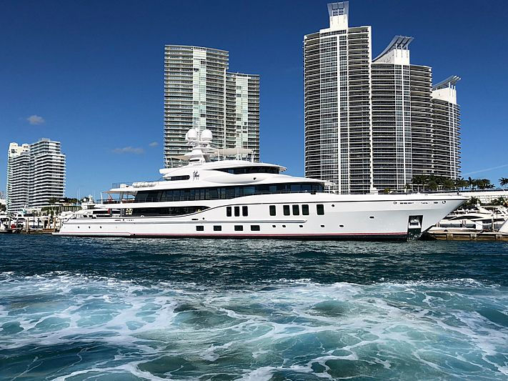 Sixth Sense yacht docked in Miami