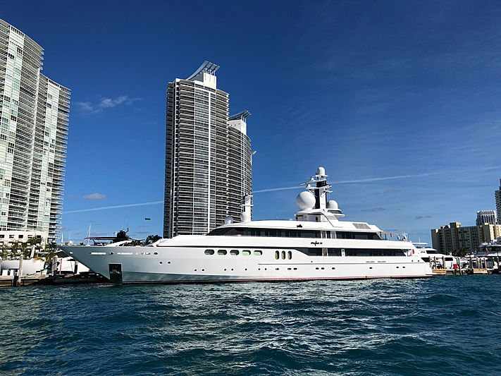 Mylin IV yacht docked in Miami