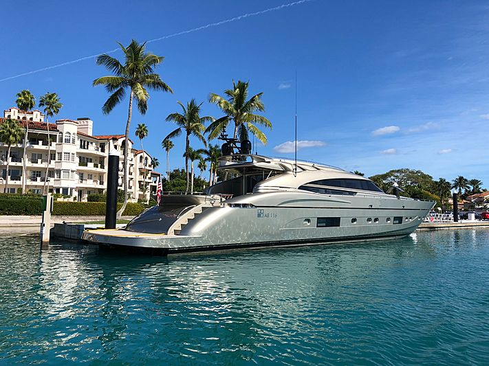 Diamond yacht docked in Miami