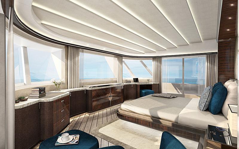 Dopamine yacht interior rendering