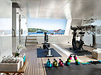 Space yacht gym and tender garage