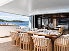 Space yacht aft deck