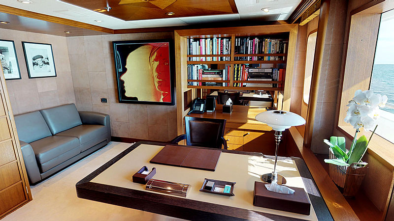 Space yacht owner's study