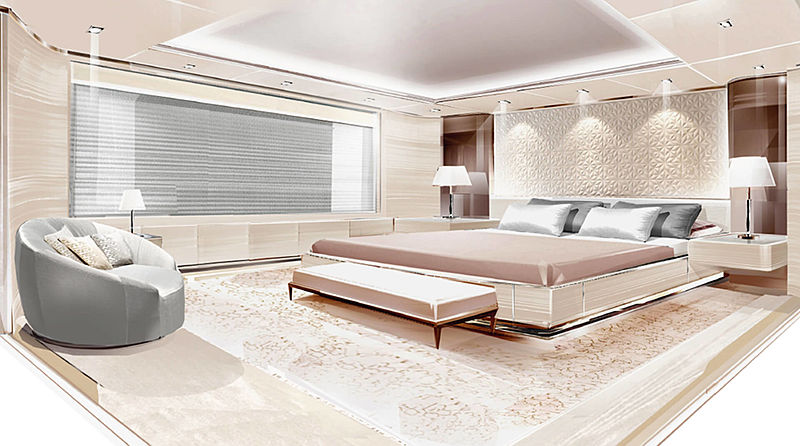 O'Pari yacht interior design