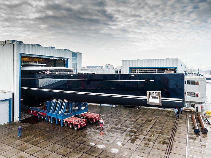 81m Sea Eagle II yacht launch