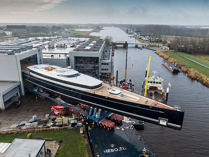 81m Sea Eagle II yacht launch