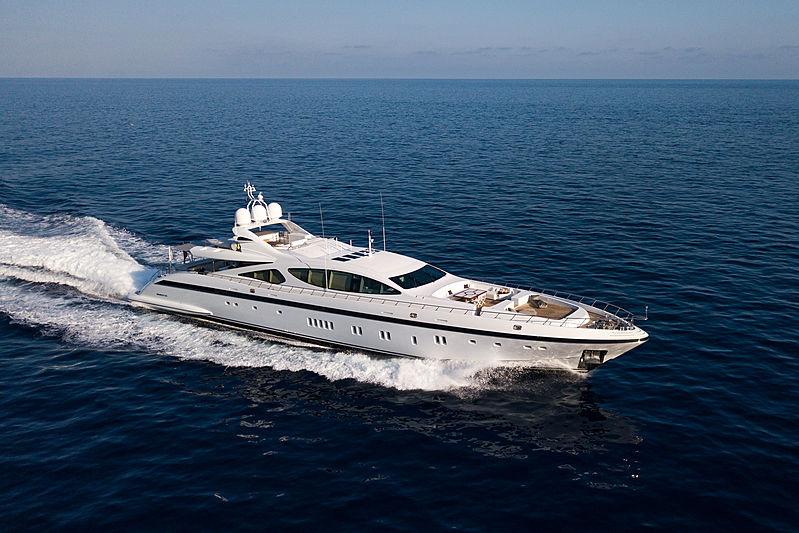 Pumpkin yacht cruising