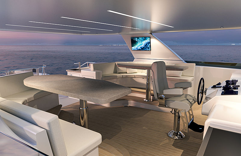 Westport 117 Raised Pilothouse yacht exterior design