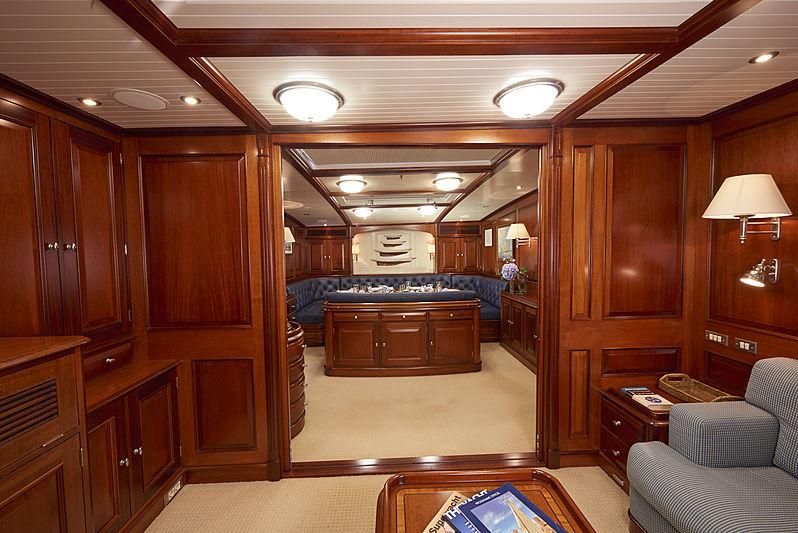 Borkumriff IV yacht saloon
