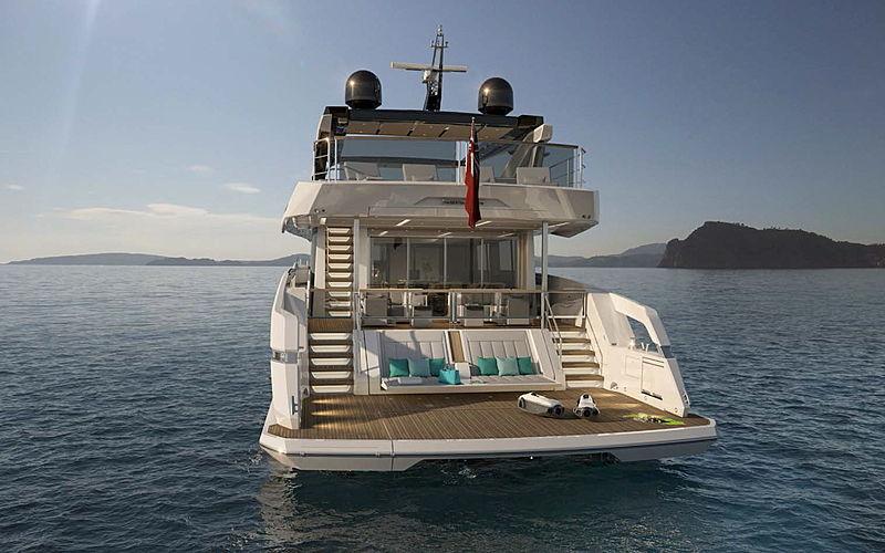 Sunseeker 87 yacht exterior design
