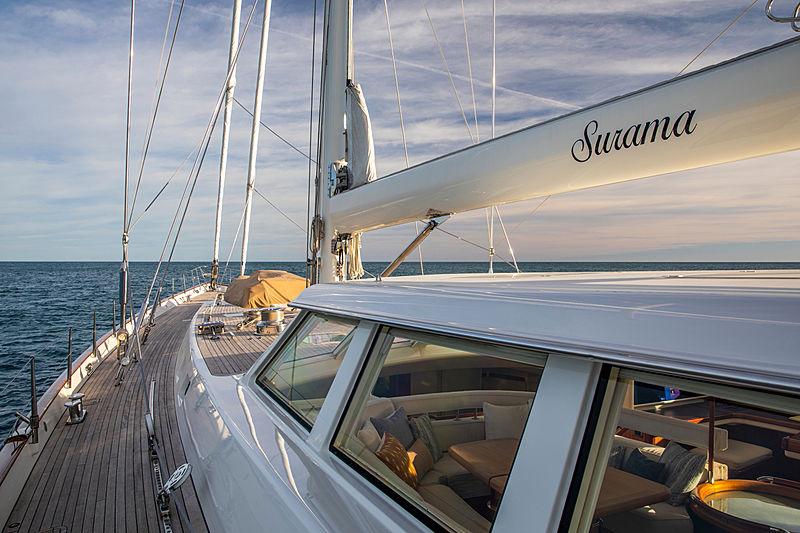 Surama yacht sidedeck