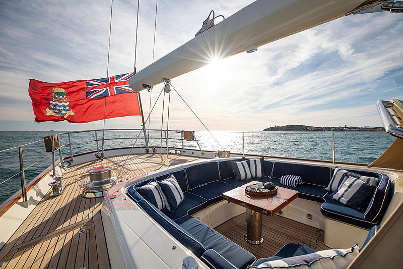 Surama yacht aft deck