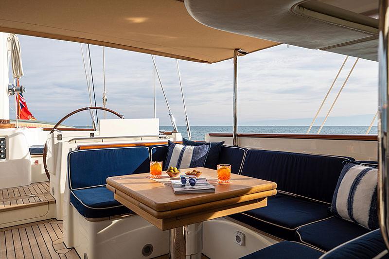 Surama yacht deck