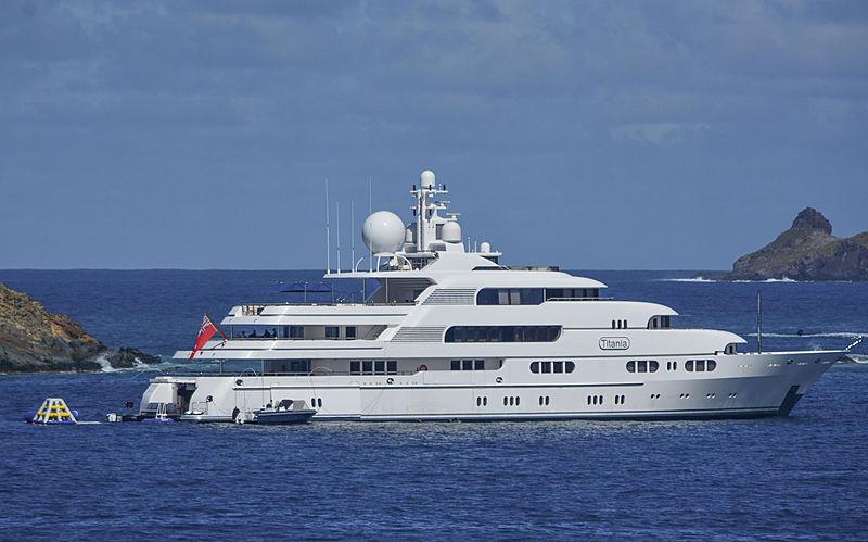 Titania yacht in St Barths