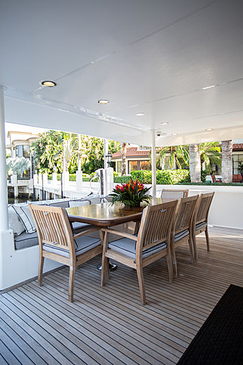 Gail Force Too yacht aft deck