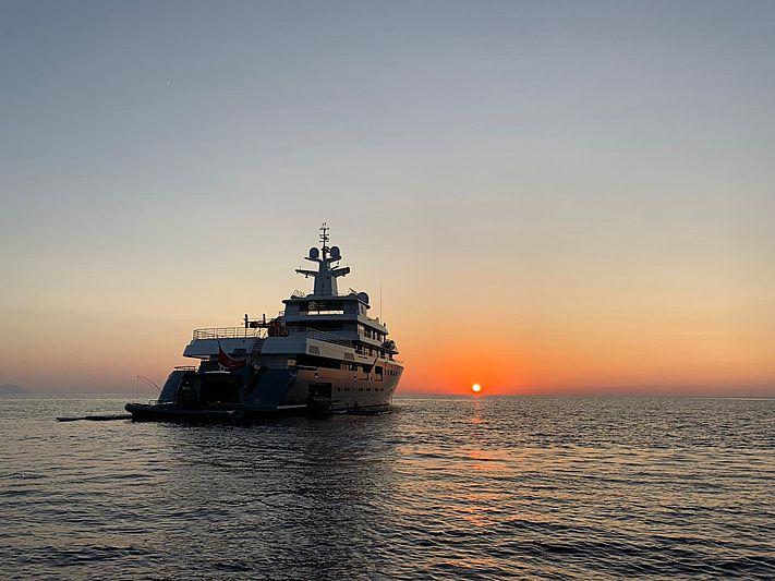 Planet Nine yacht anchored