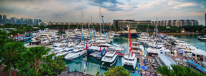 Yachts at the Singapore Yacht Show 2019