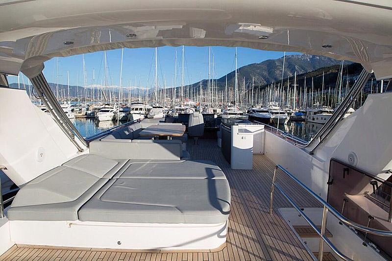 Rainbow yacht top deck