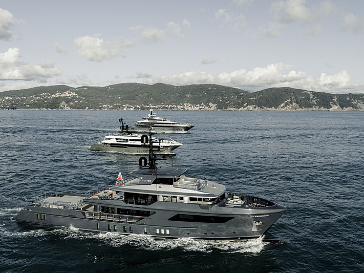 Sanlorenzo yacht fleet cruising