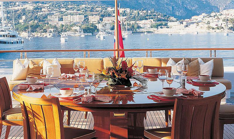 Hadia yacht aft deck